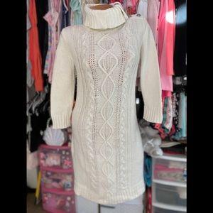 Tommy Hilfiger Cream Sweater Dress M